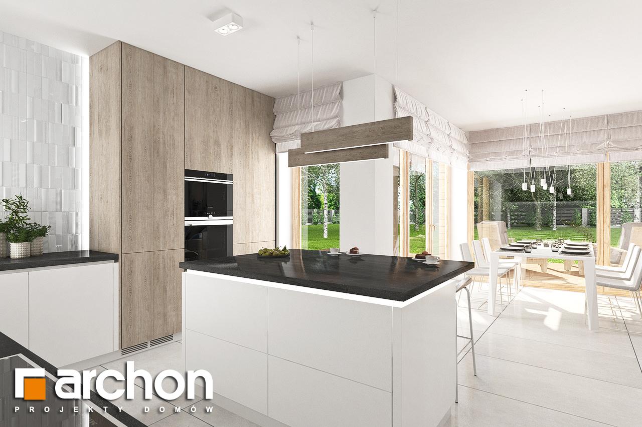Проект дома ARCHON+ Дом в лосанах визуализация кухни 1 вид 2