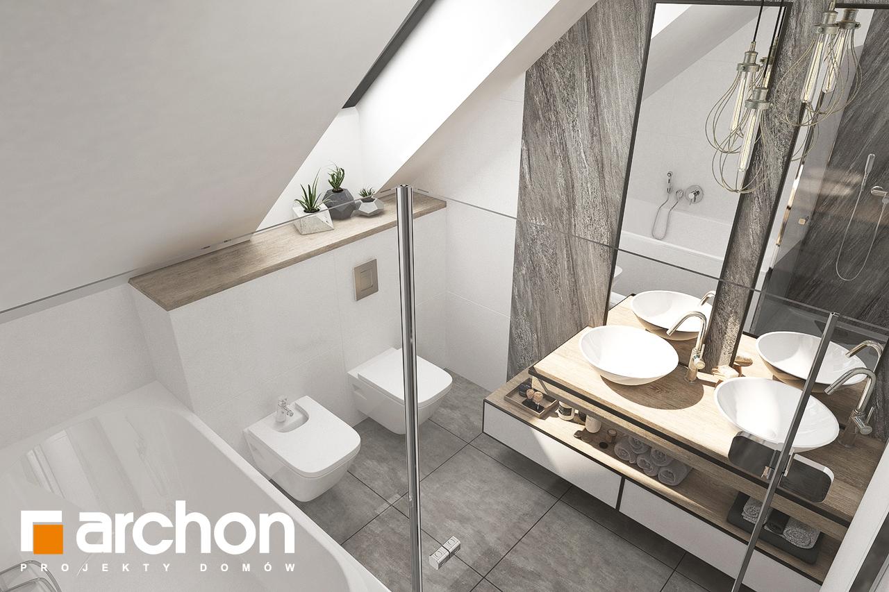 Проект будинку ARCHON+ Будинок в лосанах  візуалізація ванни (візуалізація 3 від 4)