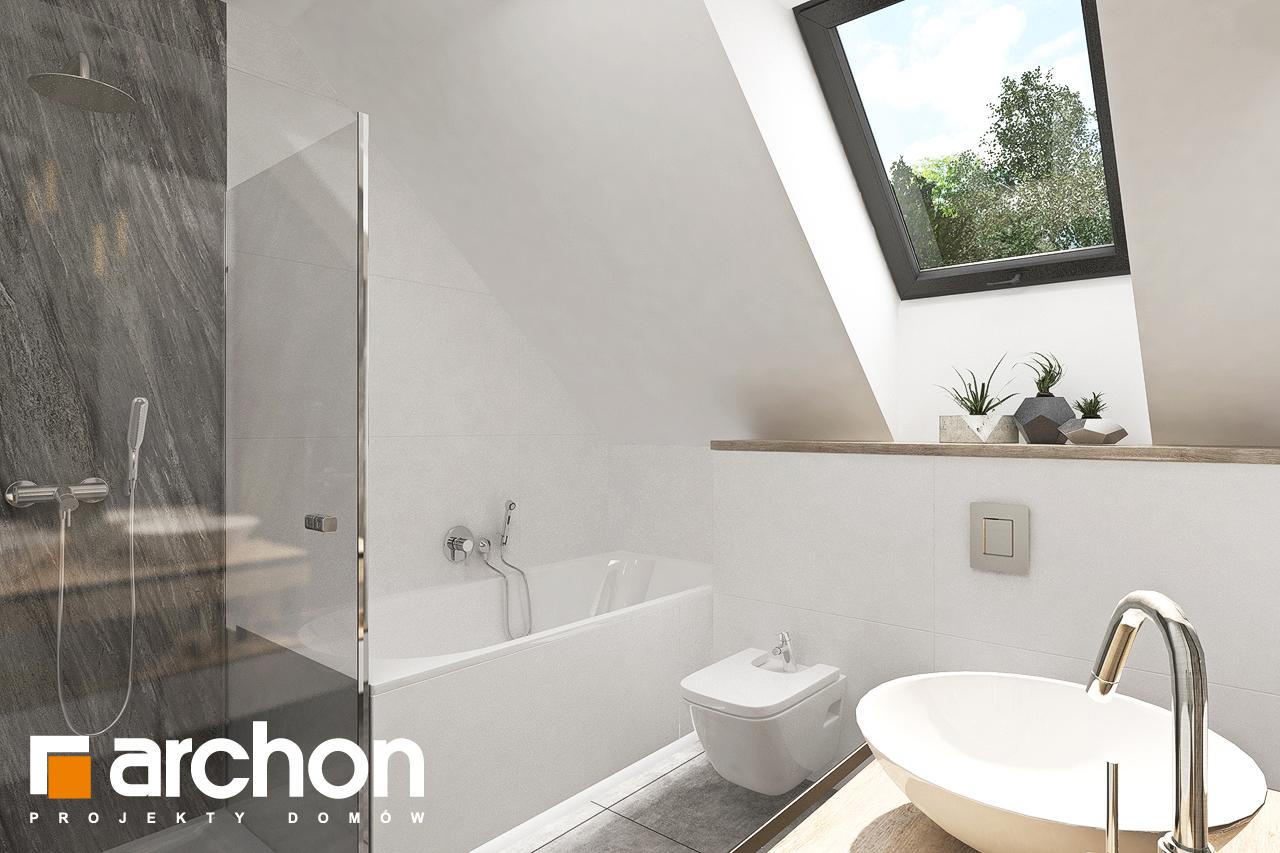 Проект дома ARCHON+ Дом в лосанах визуализация ванной (визуализация 3 вид 1)