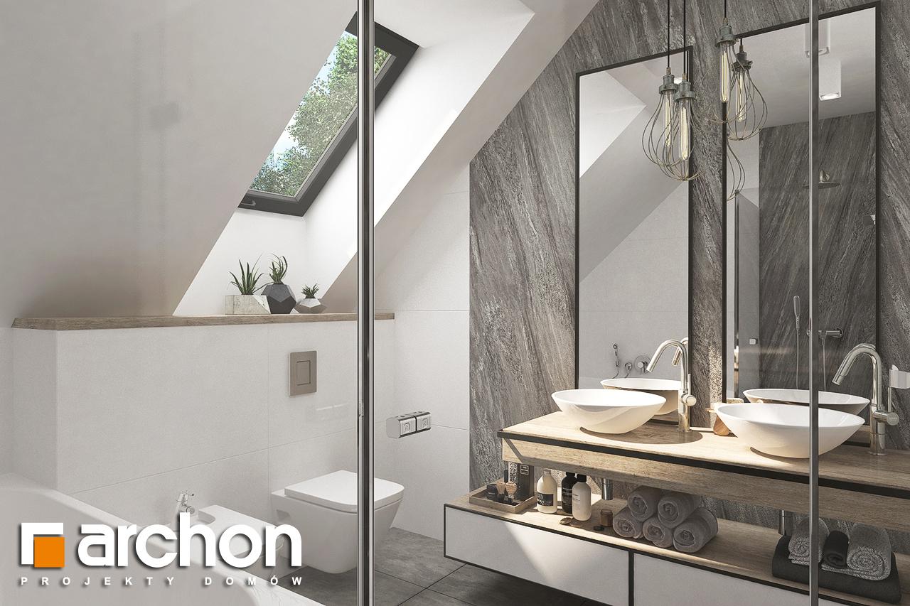 Проект дома ARCHON+ Дом в лосанах визуализация ванной (визуализация 3 вид 2)