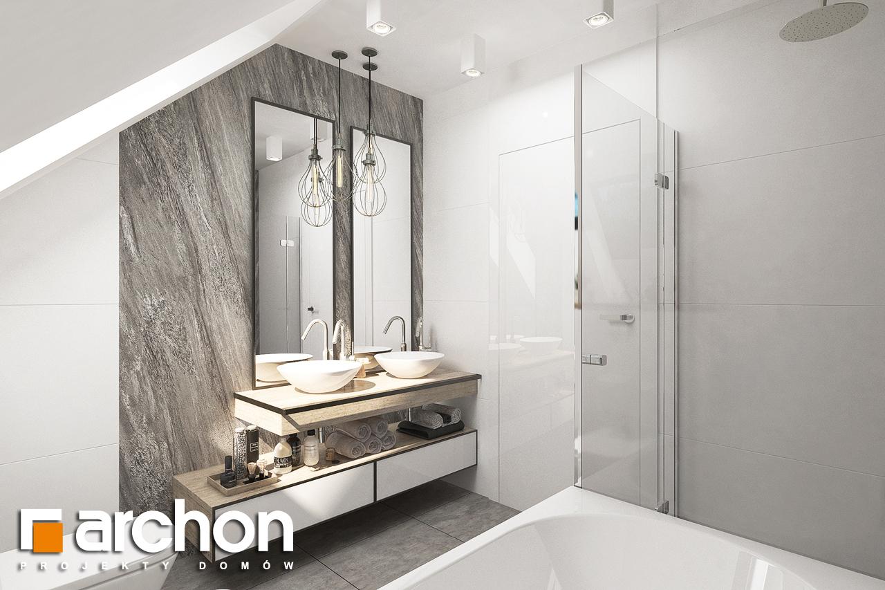 Проект дома ARCHON+ Дом в лосанах визуализация ванной (визуализация 3 вид 3)