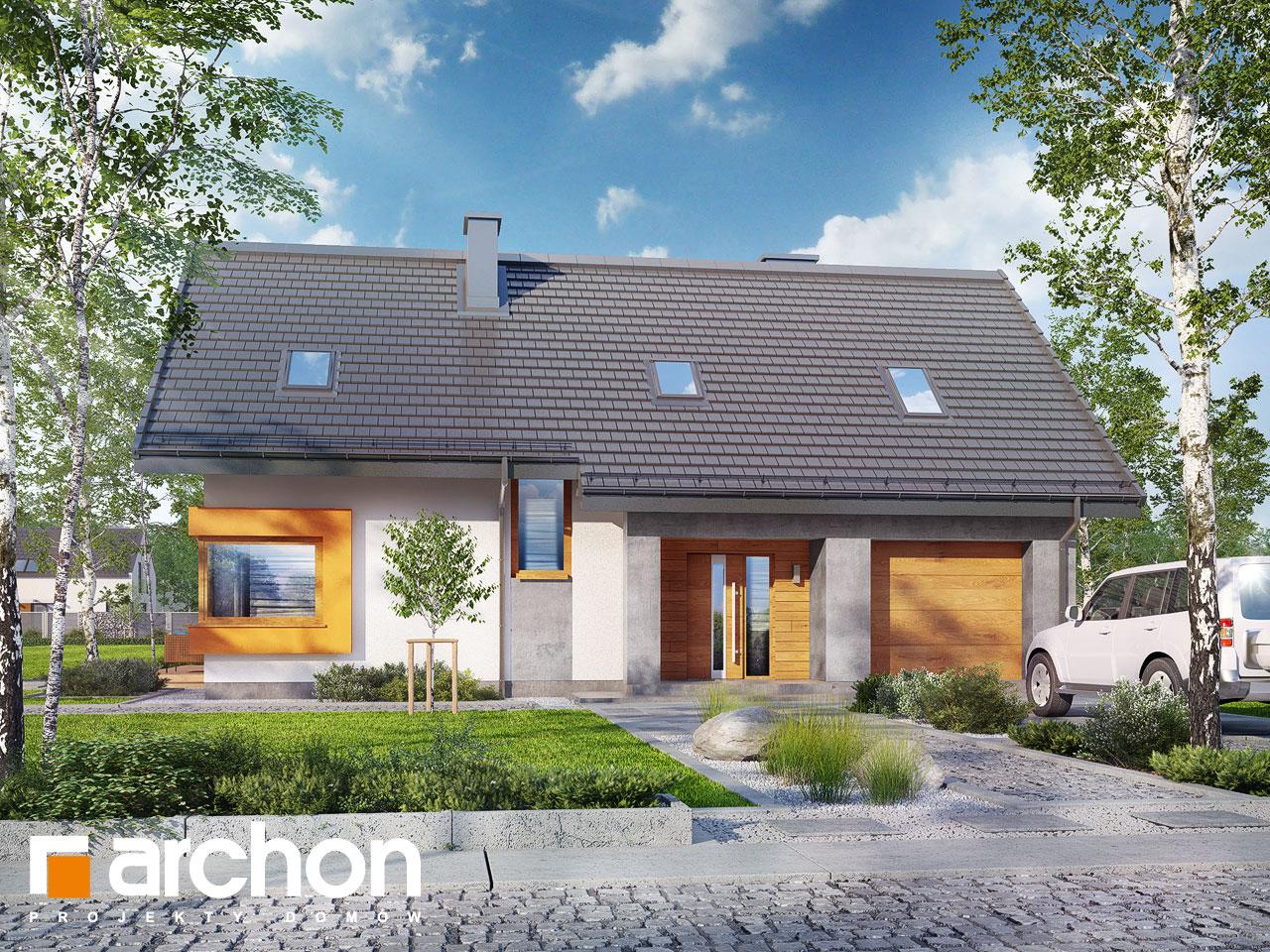 Проект дома ARCHON+ Дом в лосанах Вид 2