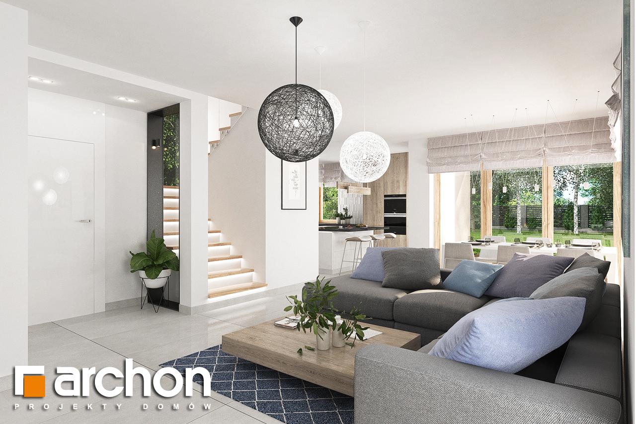 Проект будинку ARCHON+ Будинок в лосанах  денна зона (візуалізація 1 від 2)