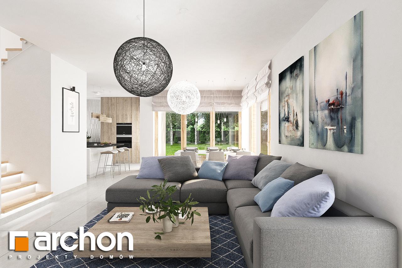 Проект будинку ARCHON+ Будинок в лосанах  денна зона (візуалізація 1 від 4)