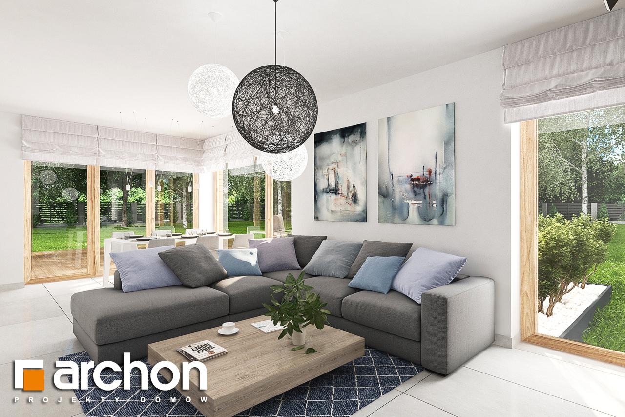 Проект дома ARCHON+ Дом в лосанах дневная зона (визуализация 1 вид 3)