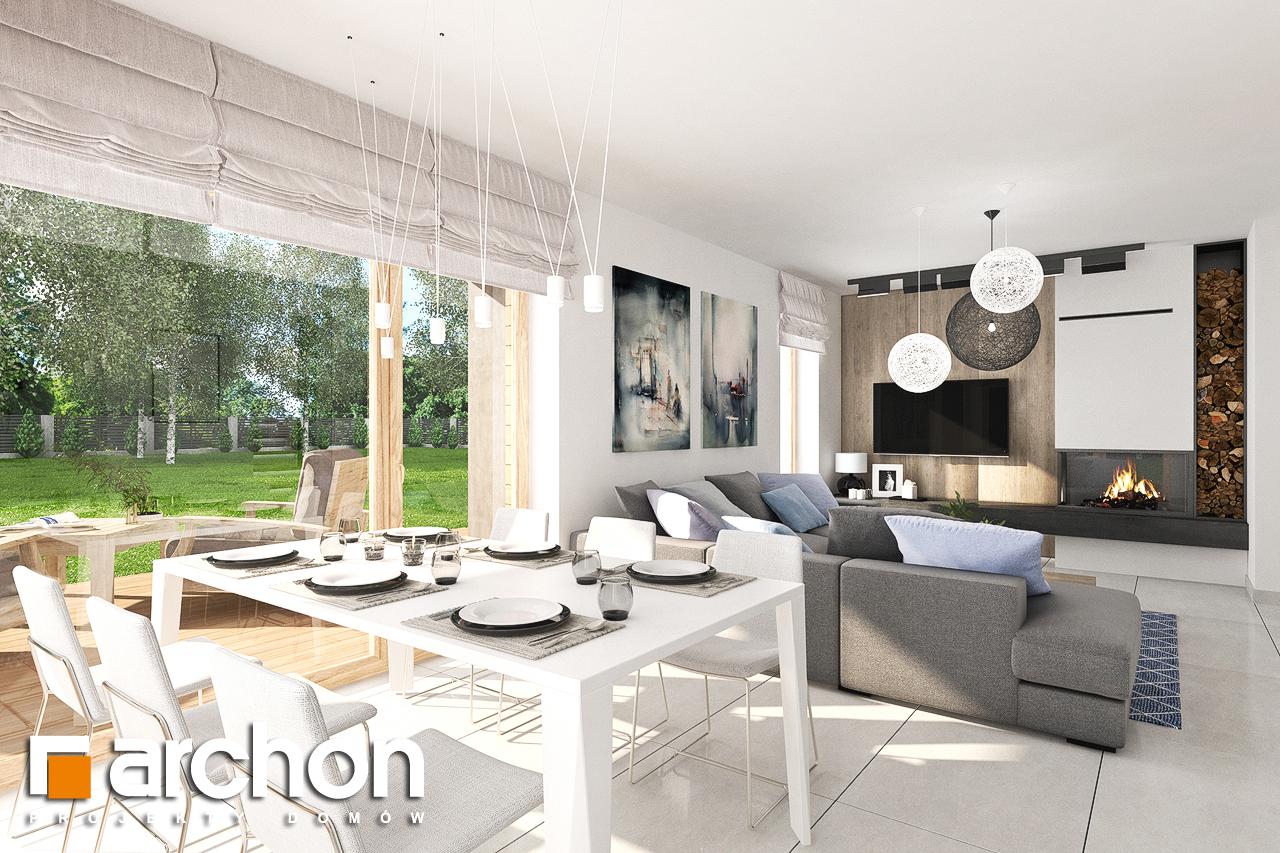 Проект дома ARCHON+ Дом в лосанах дневная зона (визуализация 1 вид 5)