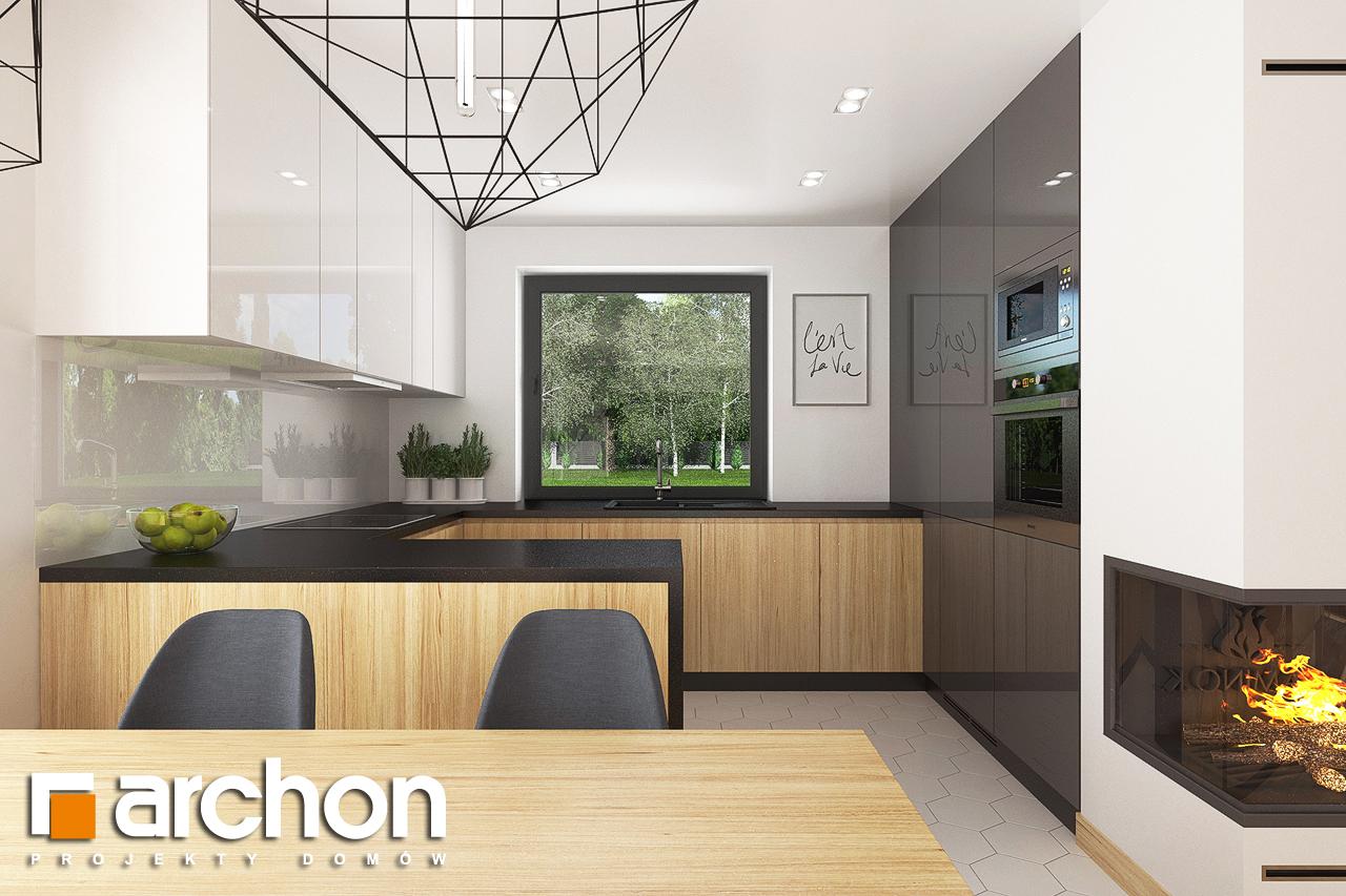 Проект будинку ARCHON+ Будинок в хлорофітумі 8 візуалізація кухні 1 від 1