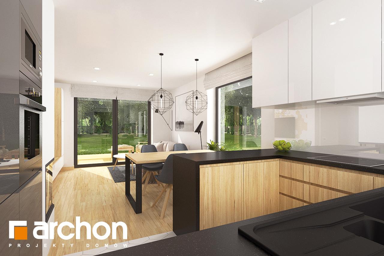Проект будинку ARCHON+ Будинок в хлорофітумі 8 візуалізація кухні 1 від 2