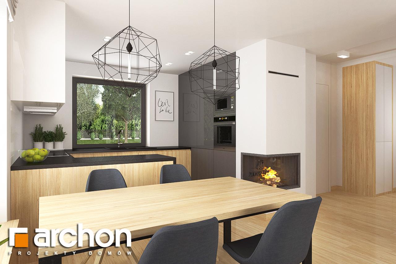 Проект будинку ARCHON+ Будинок в хлорофітумі 8 візуалізація кухні 1 від 3