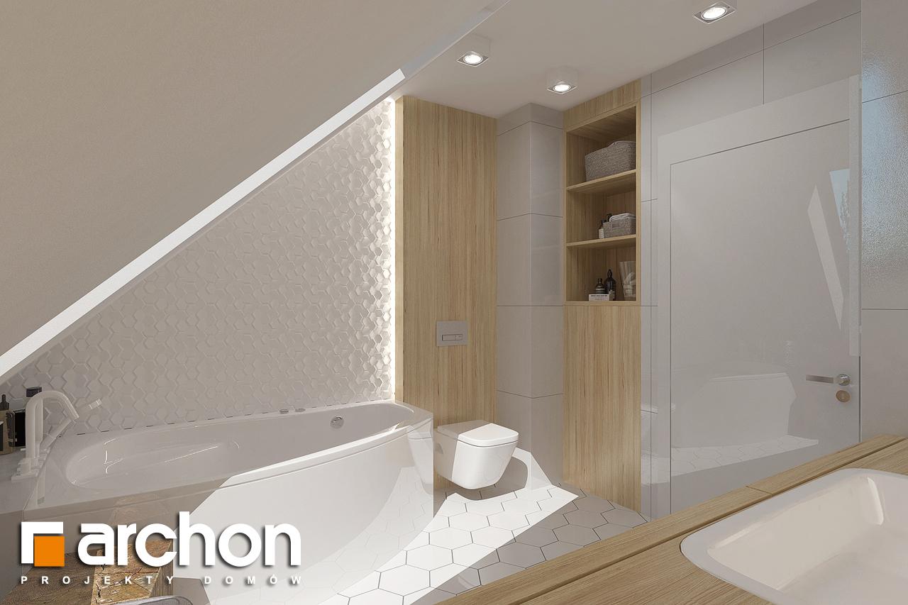 Проект будинку ARCHON+ Будинок в хлорофітумі 8 візуалізація ванни (візуалізація 3 від 1)