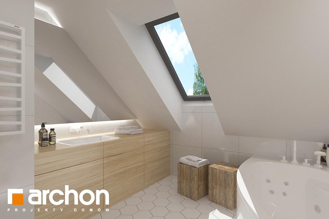 Проект будинку ARCHON+ Будинок в хлорофітумі 8 візуалізація ванни (візуалізація 3 від 2)