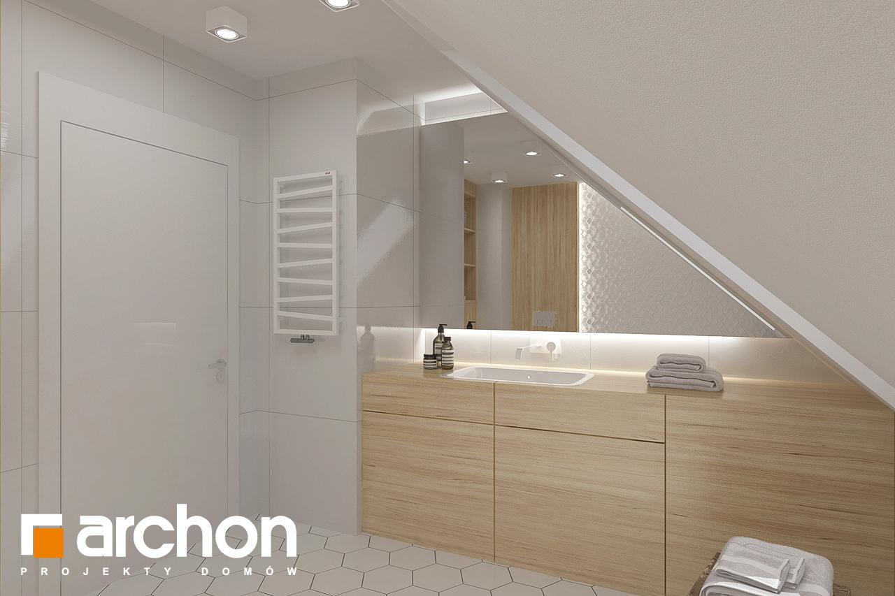 Проект будинку ARCHON+ Будинок в хлорофітумі 8 візуалізація ванни (візуалізація 3 від 3)