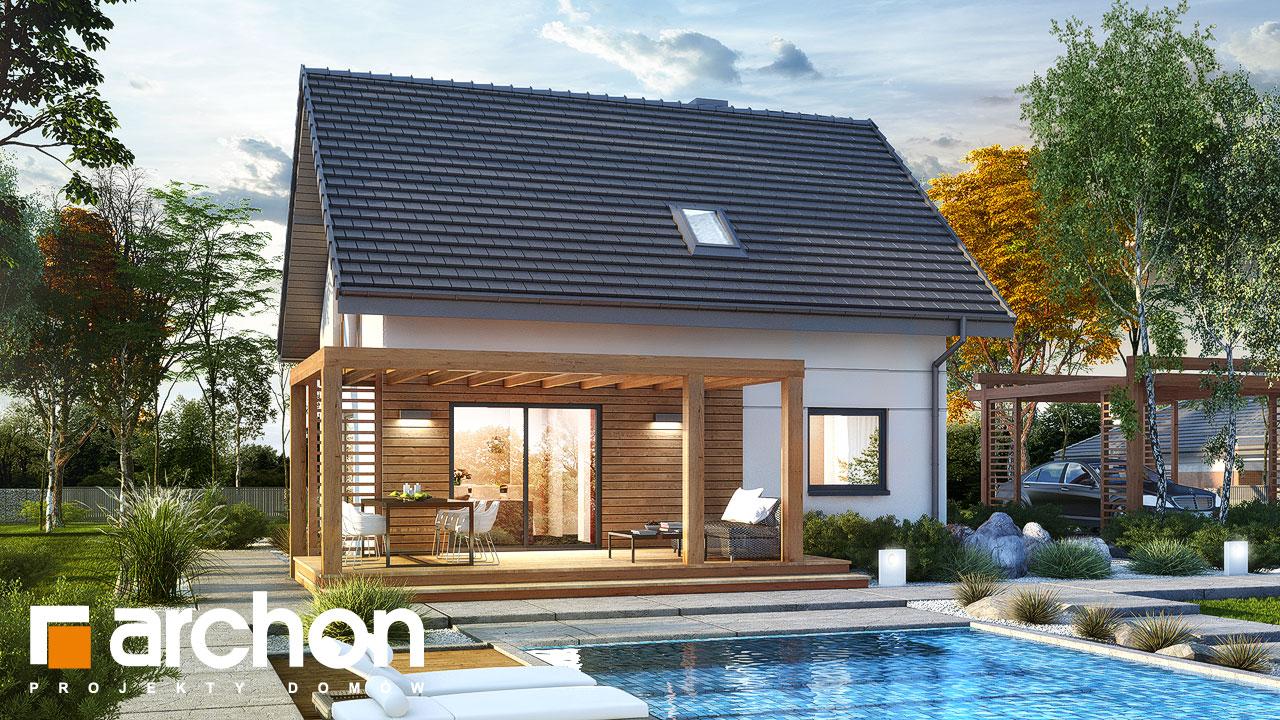 Проект будинку ARCHON+ Будинок в хлорофітумі 8 Вид 2