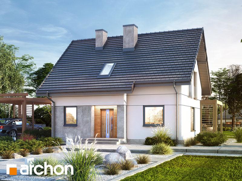 Проект будинку ARCHON+ Будинок в хлорофітумі 8 Вид 1