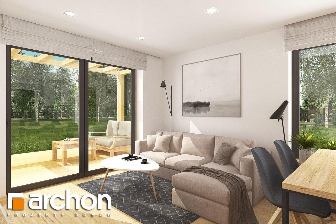 Проект будинку ARCHON+ Будинок в хлорофітумі 8 денна зона (візуалізація 1 від 2)