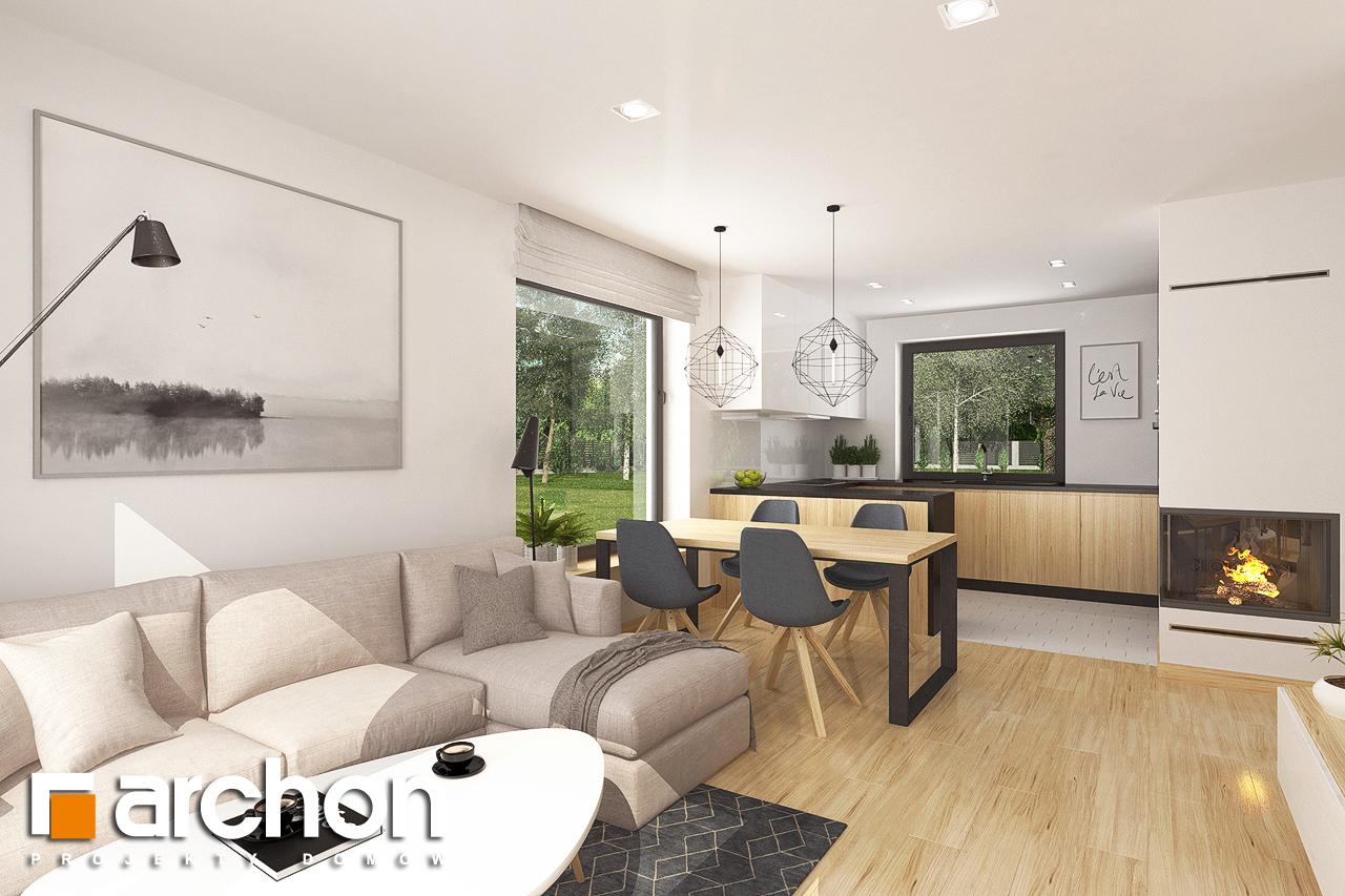 Проект будинку ARCHON+ Будинок в хлорофітумі 8 денна зона (візуалізація 1 від 3)