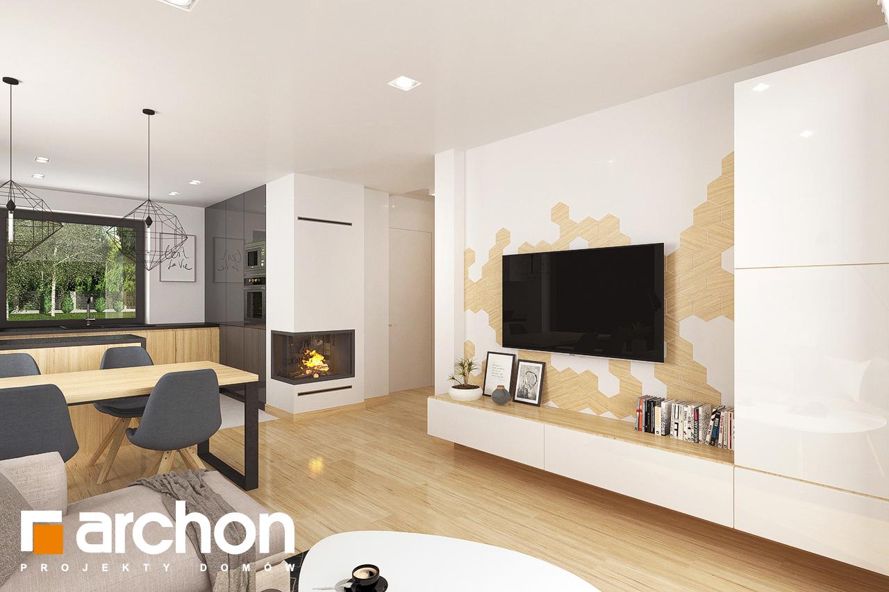 Проект будинку ARCHON+ Будинок в хлорофітумі 8 денна зона (візуалізація 1 від 4)