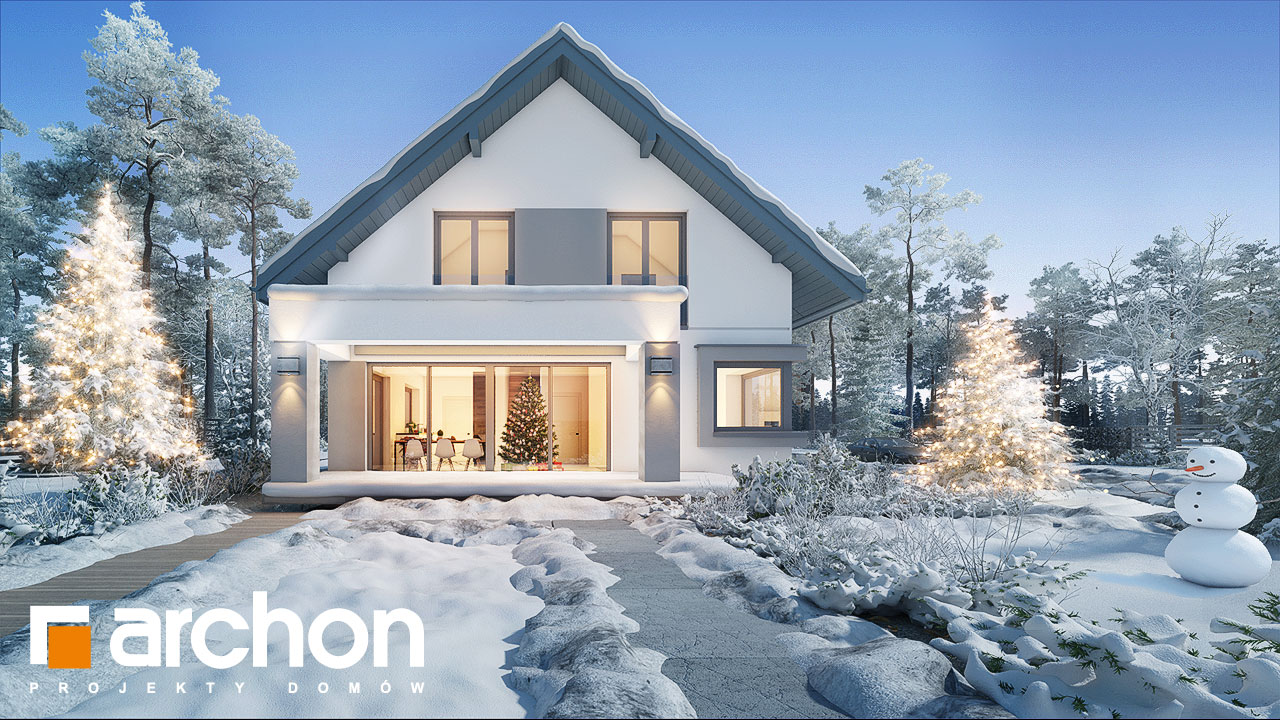 Проект дома ARCHON+ Дом в изопируме 8 додаткова візуалізація