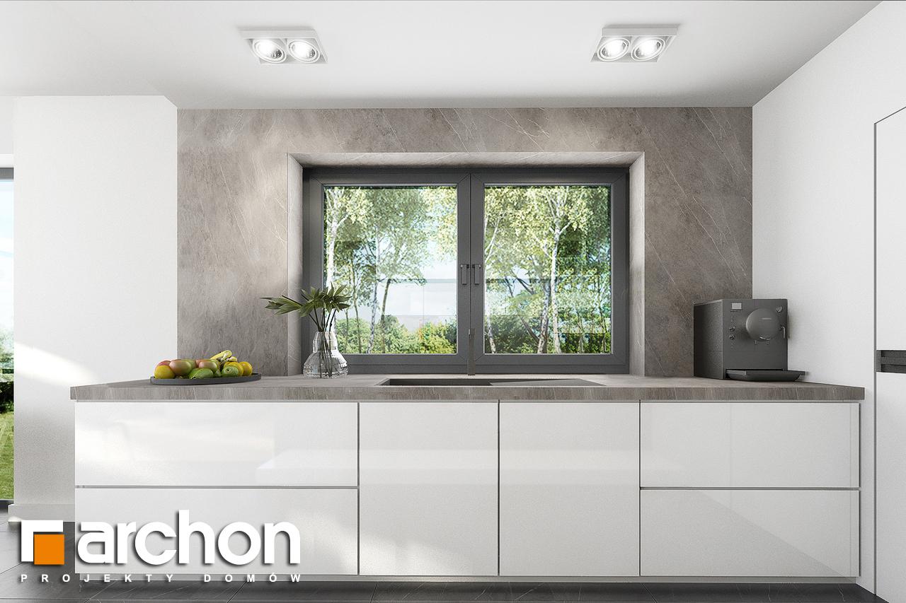 Проект дома ARCHON+ Дом в изопируме 8 визуализация кухни 1 вид 1