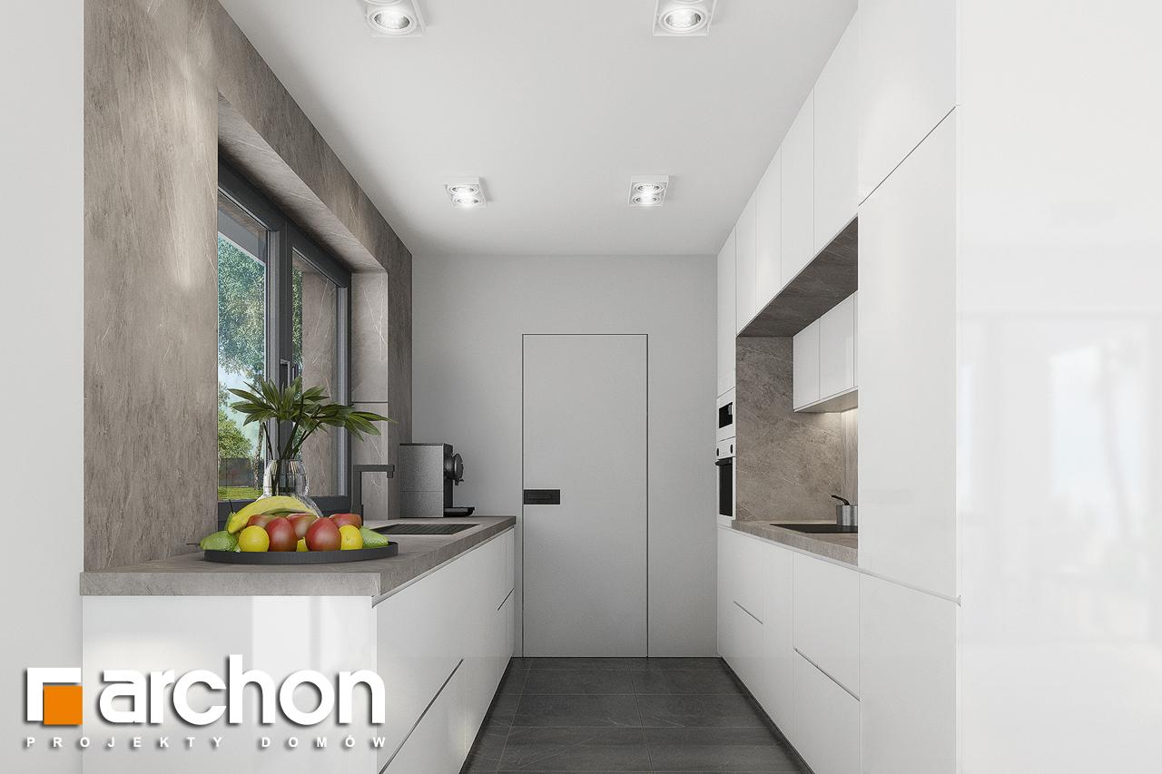 Проект дома ARCHON+ Дом в изопируме 8 визуализация кухни 1 вид 2