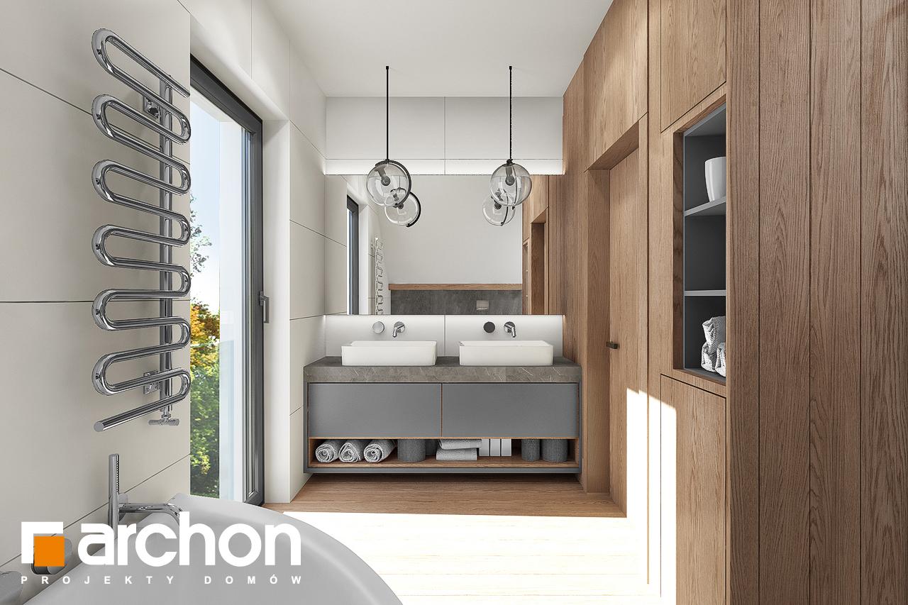 Проект дома ARCHON+ Дом в изопируме 8 визуализация ванной (визуализация 3 вид 1)