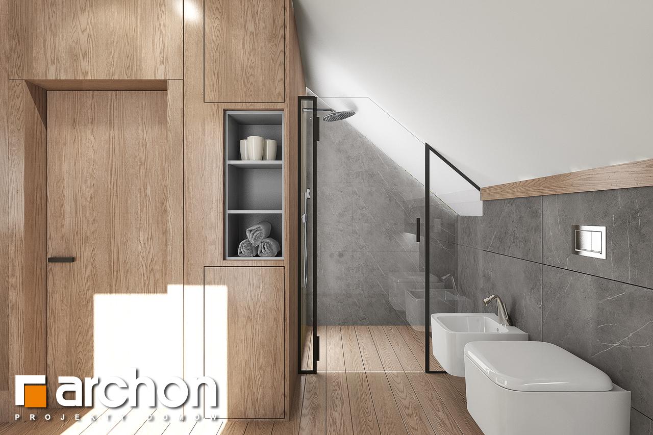 Проект дома ARCHON+ Дом в изопируме 8 визуализация ванной (визуализация 3 вид 3)