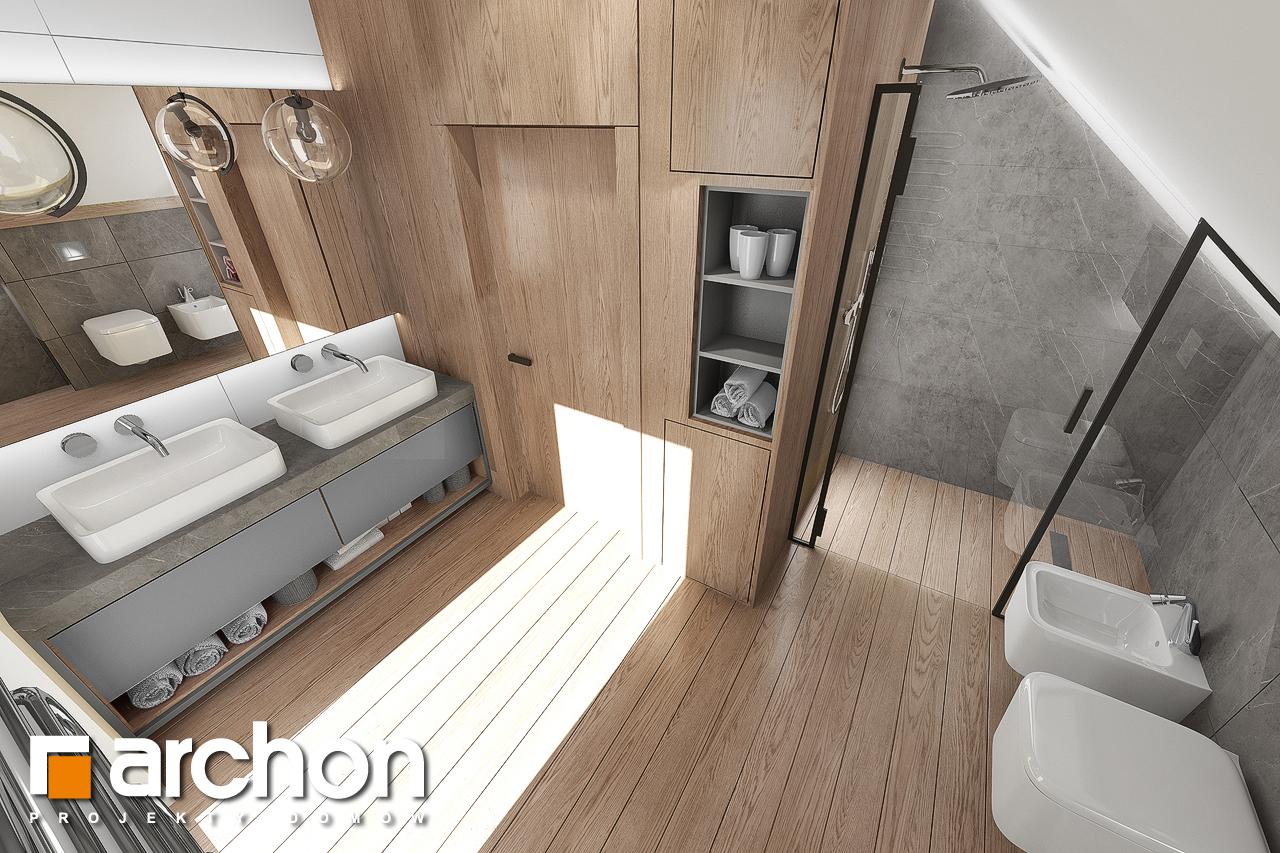 Проект дома ARCHON+ Дом в изопируме 8 визуализация ванной (визуализация 3 вид 4)