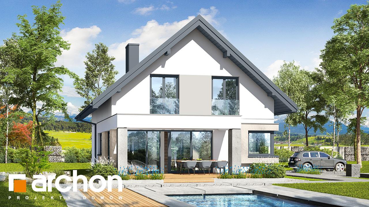 Проект дома ARCHON+ Дом в изопируме 8 Вид 2
