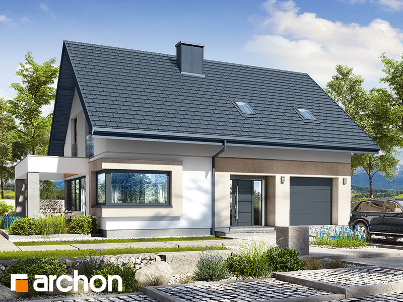 Проект дома ARCHON+ Дом в изопируме 8 Вид 1