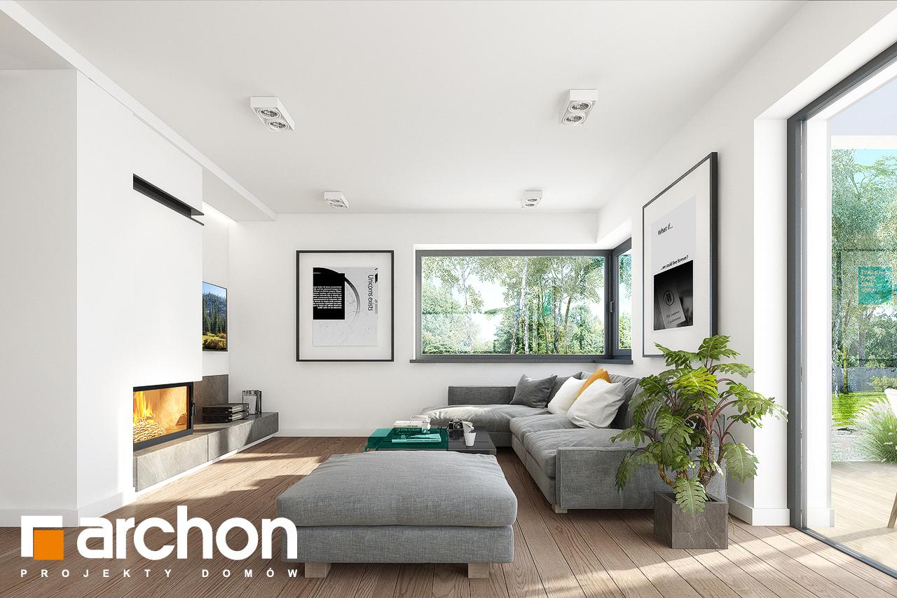 Проект дома ARCHON+ Дом в изопируме 8 дневная зона (визуализация 1 вид 1)