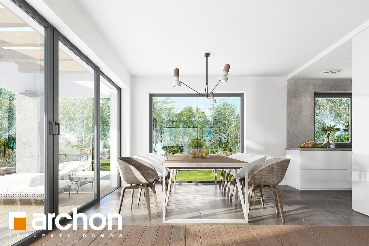 Проект дома ARCHON+ Дом в изопируме 8 дневная зона (визуализация 1 вид 2)