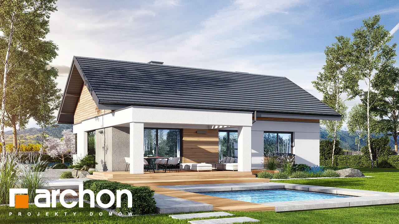 Проект будинку ARCHON+ Будинок в цикорії Вид 2