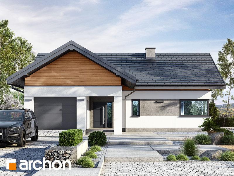Проект будинку ARCHON+ Будинок в цикорії Вид 1