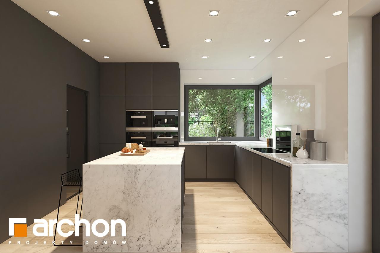 Проект будинку ARCHON+ Будинок в підсніжниках 6 (Г2) візуалізація кухні 1 від 1