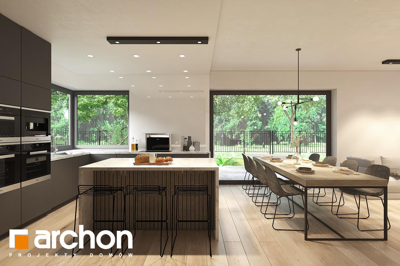 Проект будинку ARCHON+ Будинок в підсніжниках 6 (Г2) візуалізація кухні 1 від 2