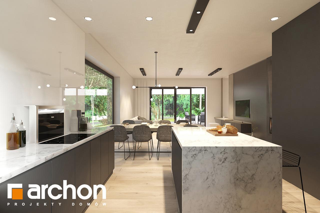 Проект будинку ARCHON+ Будинок в підсніжниках 6 (Г2) візуалізація кухні 1 від 3