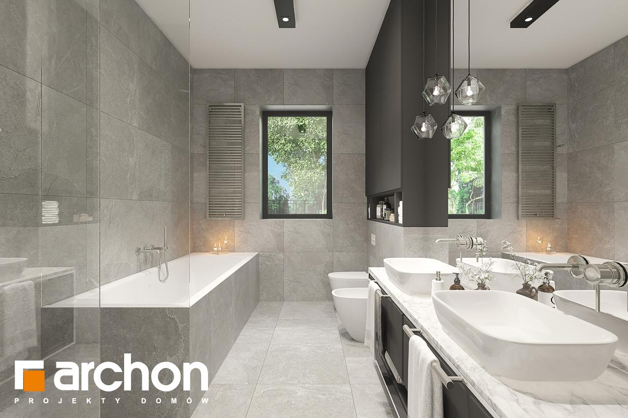 Проект будинку ARCHON+ Будинок в підсніжниках 6 (Г2) візуалізація ванни (візуалізація 3 від 1)