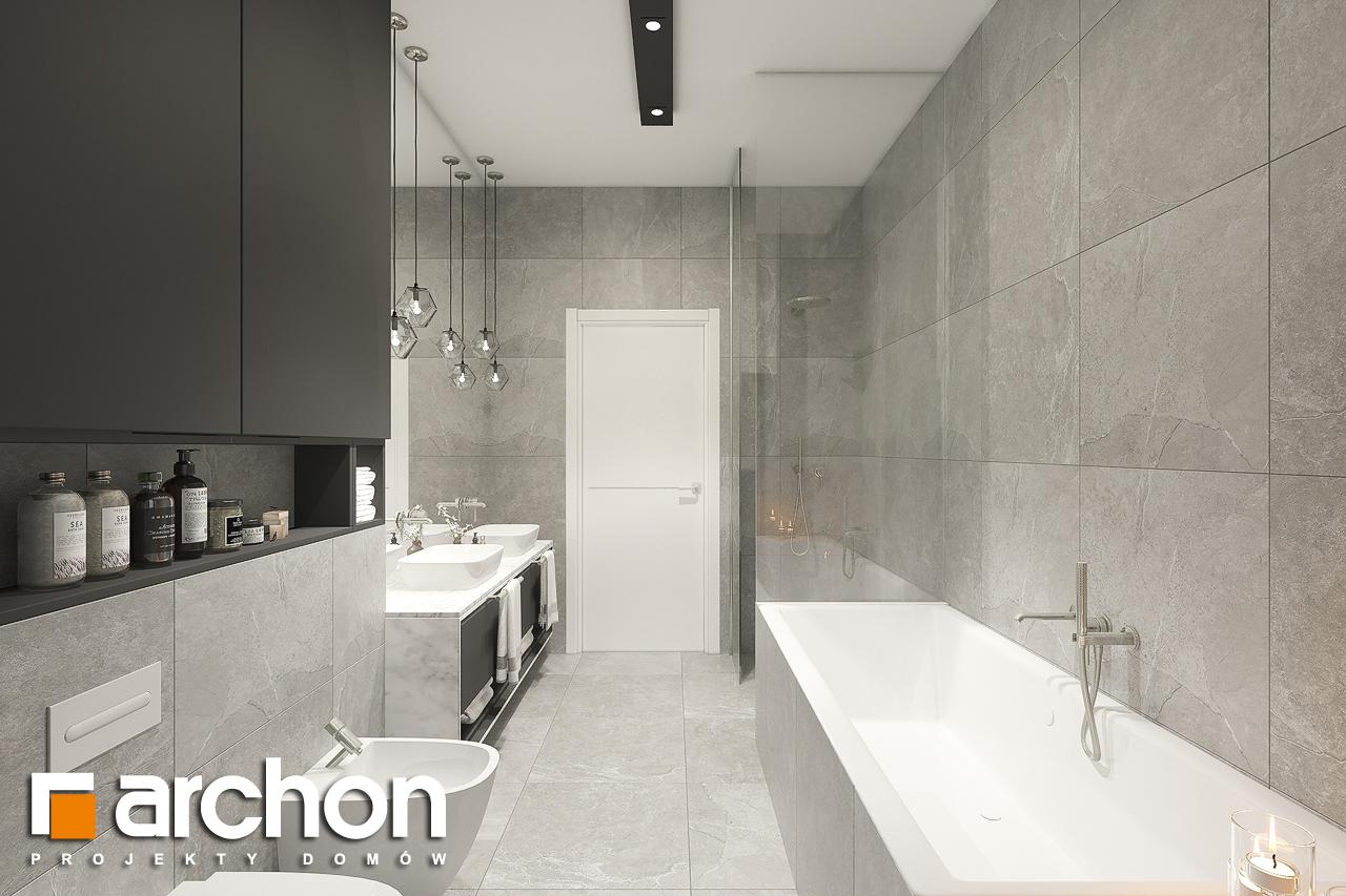 Проект будинку ARCHON+ Будинок в підсніжниках 6 (Г2) візуалізація ванни (візуалізація 3 від 2)