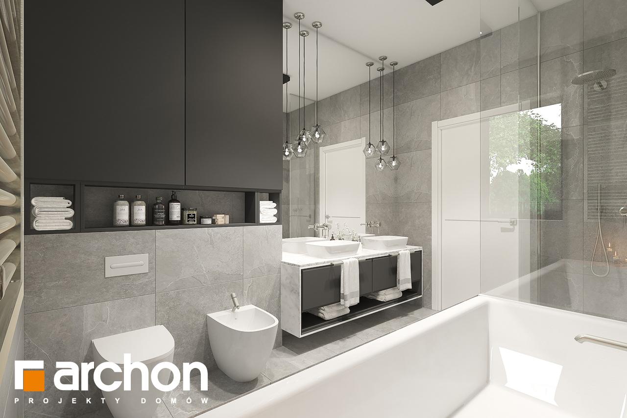 Проект будинку ARCHON+ Будинок в підсніжниках 6 (Г2) візуалізація ванни (візуалізація 3 від 3)