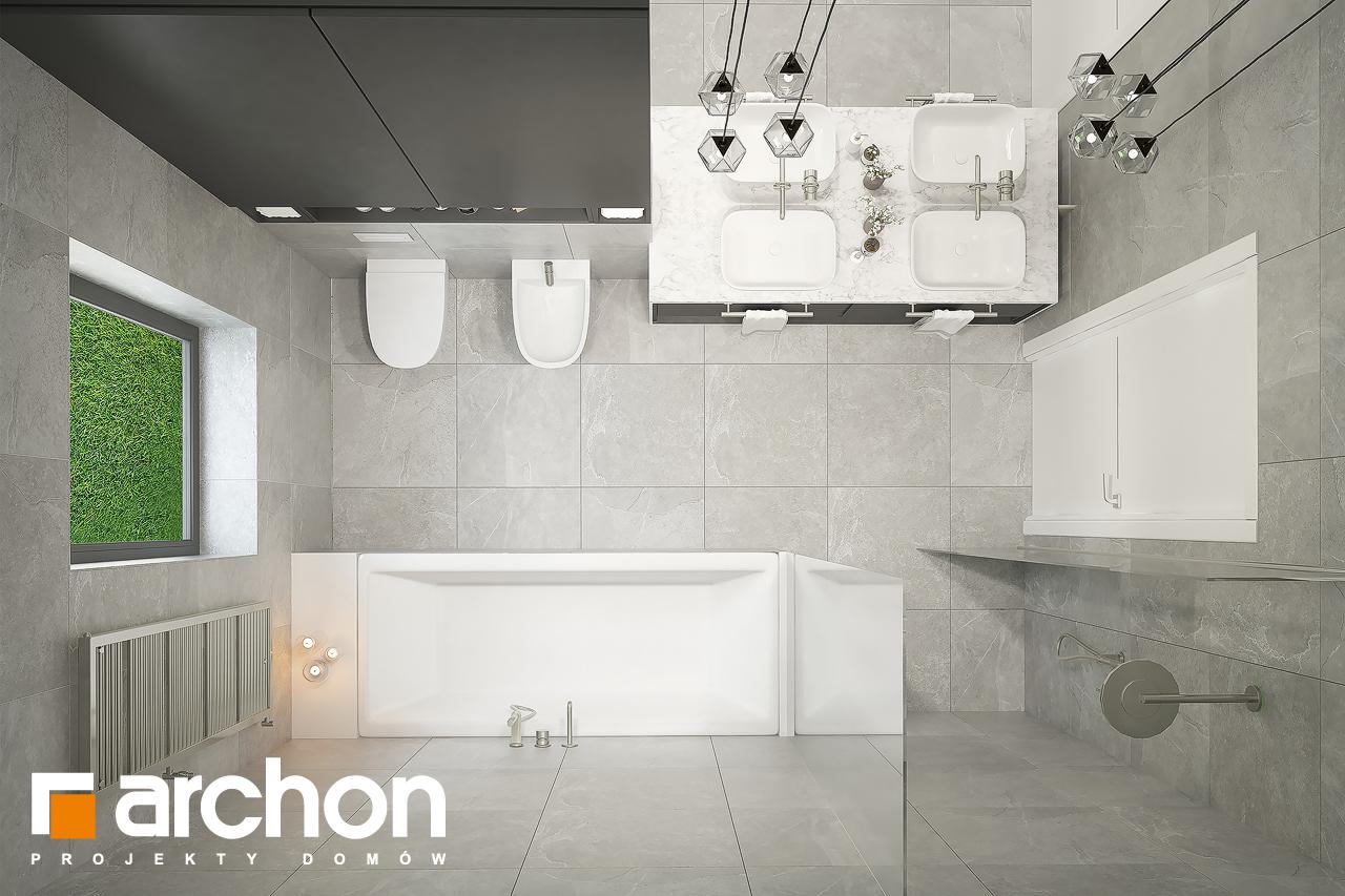 Проект будинку ARCHON+ Будинок в підсніжниках 6 (Г2) візуалізація ванни (візуалізація 3 від 4)