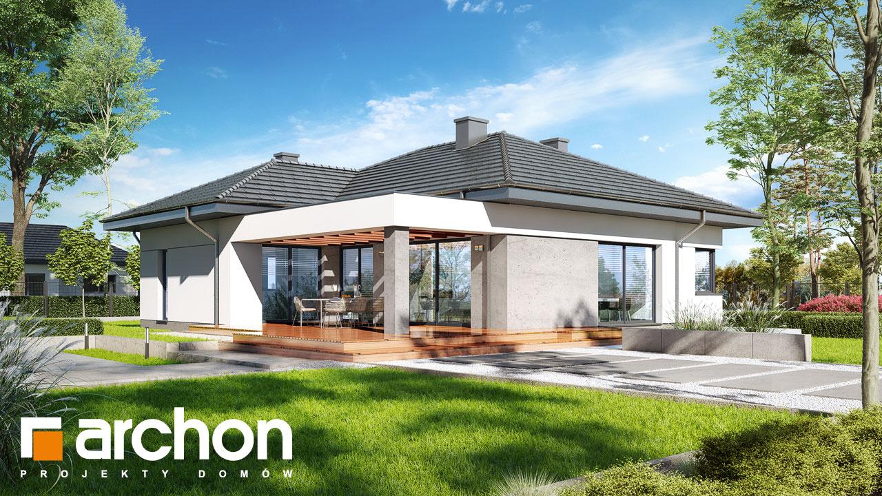 Проект будинку ARCHON+ Будинок в підсніжниках 6 (Г2) Вид 2