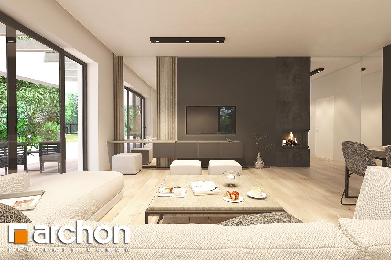 Проект будинку ARCHON+ Будинок в підсніжниках 6 (Г2) денна зона (візуалізація 1 від 1)