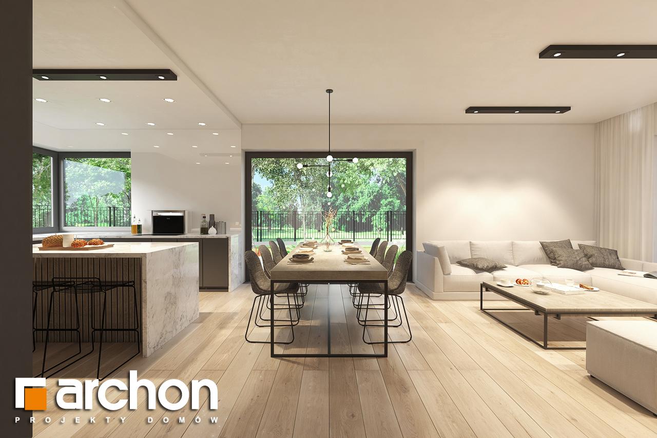 Проект будинку ARCHON+ Будинок в підсніжниках 6 (Г2) денна зона (візуалізація 1 від 2)