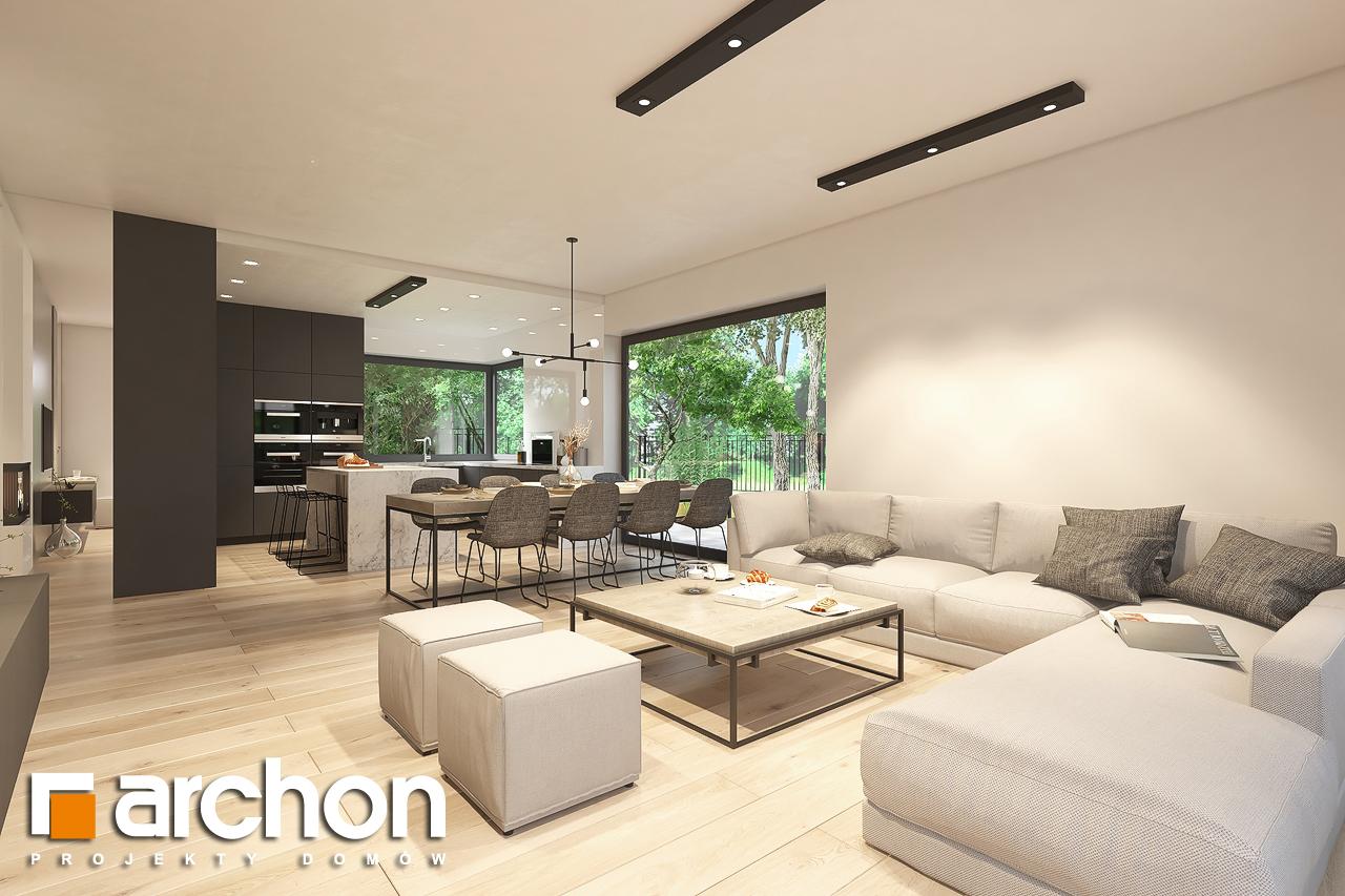 Проект будинку ARCHON+ Будинок в підсніжниках 6 (Г2) денна зона (візуалізація 1 від 3)