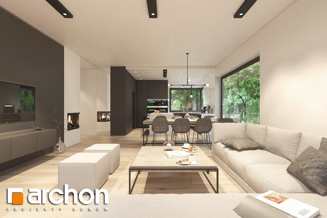 Проект будинку ARCHON+ Будинок в підсніжниках 6 (Г2) денна зона (візуалізація 1 від 4)