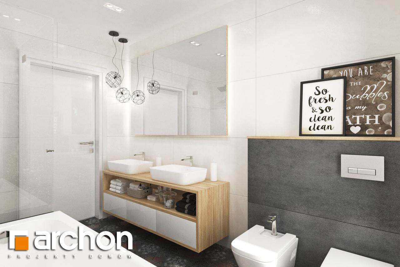 Проект будинку ARCHON+ Будинок в соняшниках 2 (Г2) візуалізація ванни (візуалізація 3 від 1)