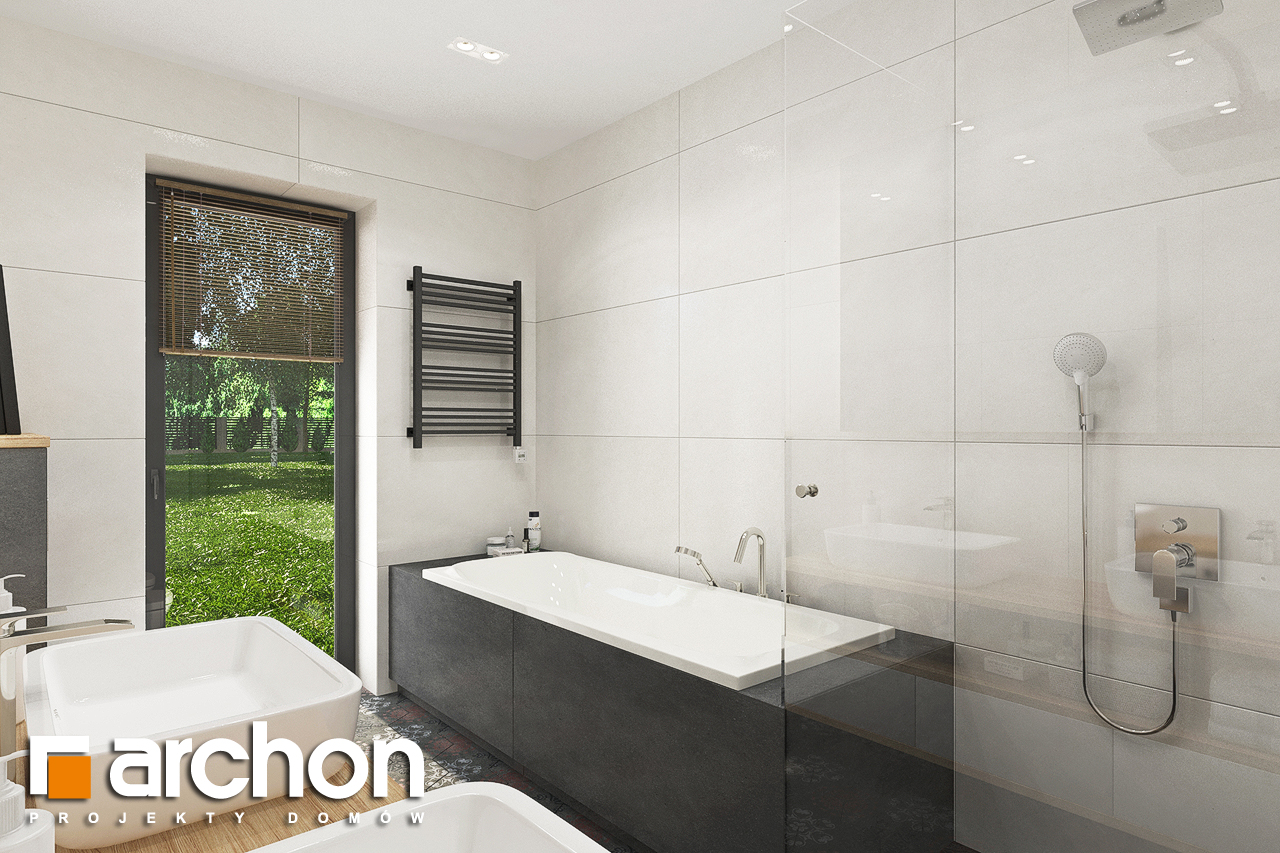 Проект будинку ARCHON+ Будинок в соняшниках 2 (Г2) візуалізація ванни (візуалізація 3 від 2)