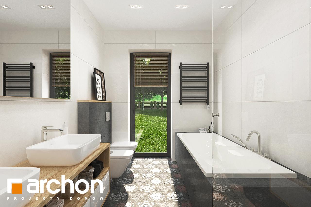 Проект будинку ARCHON+ Будинок в соняшниках 2 (Г2) візуалізація ванни (візуалізація 3 від 3)