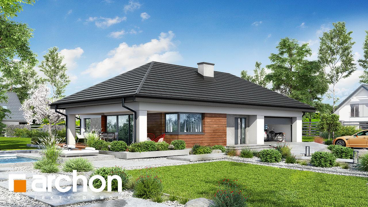 Проект будинку ARCHON+ Будинок в соняшниках 2 (Г2) стилізація 3