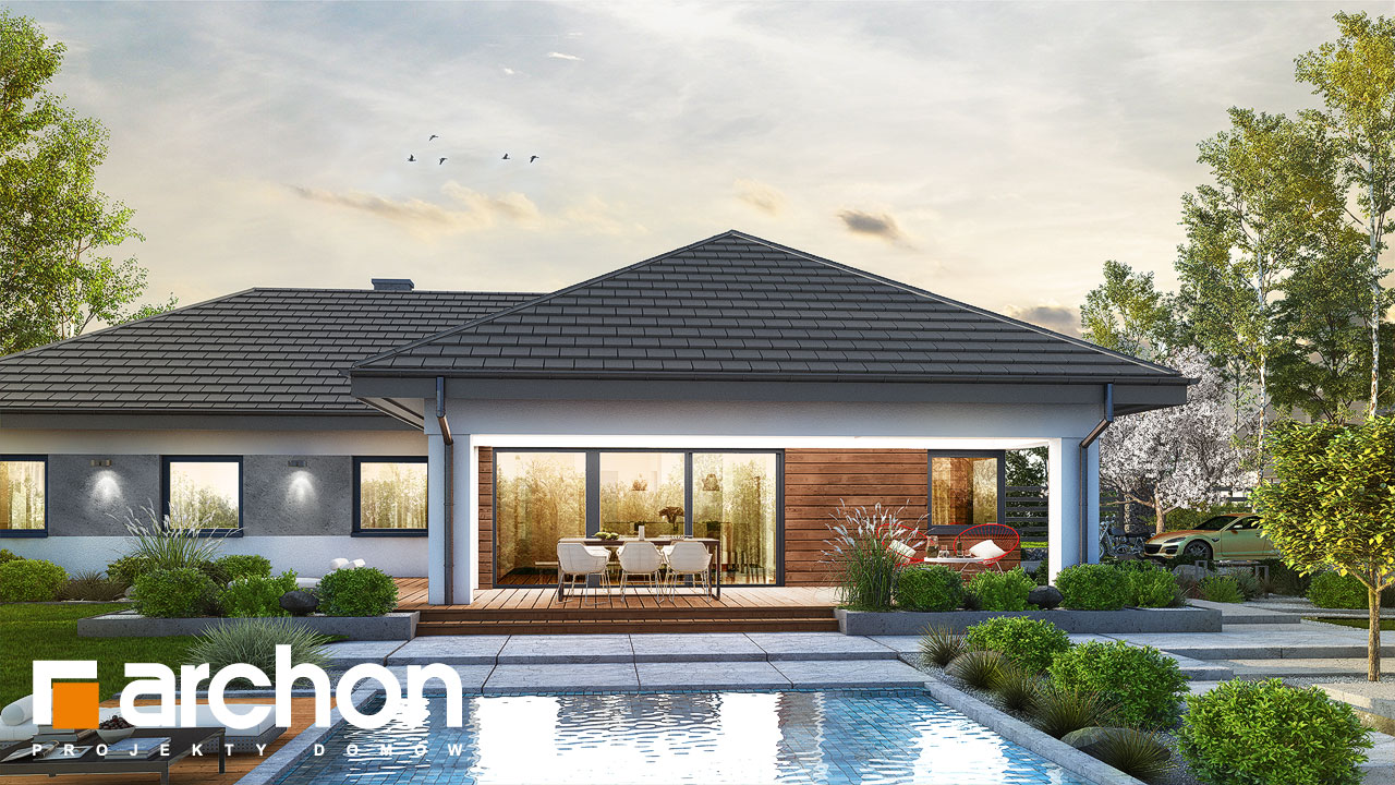 Проект будинку ARCHON+ Будинок в соняшниках 2 (Г2) стилізація 4